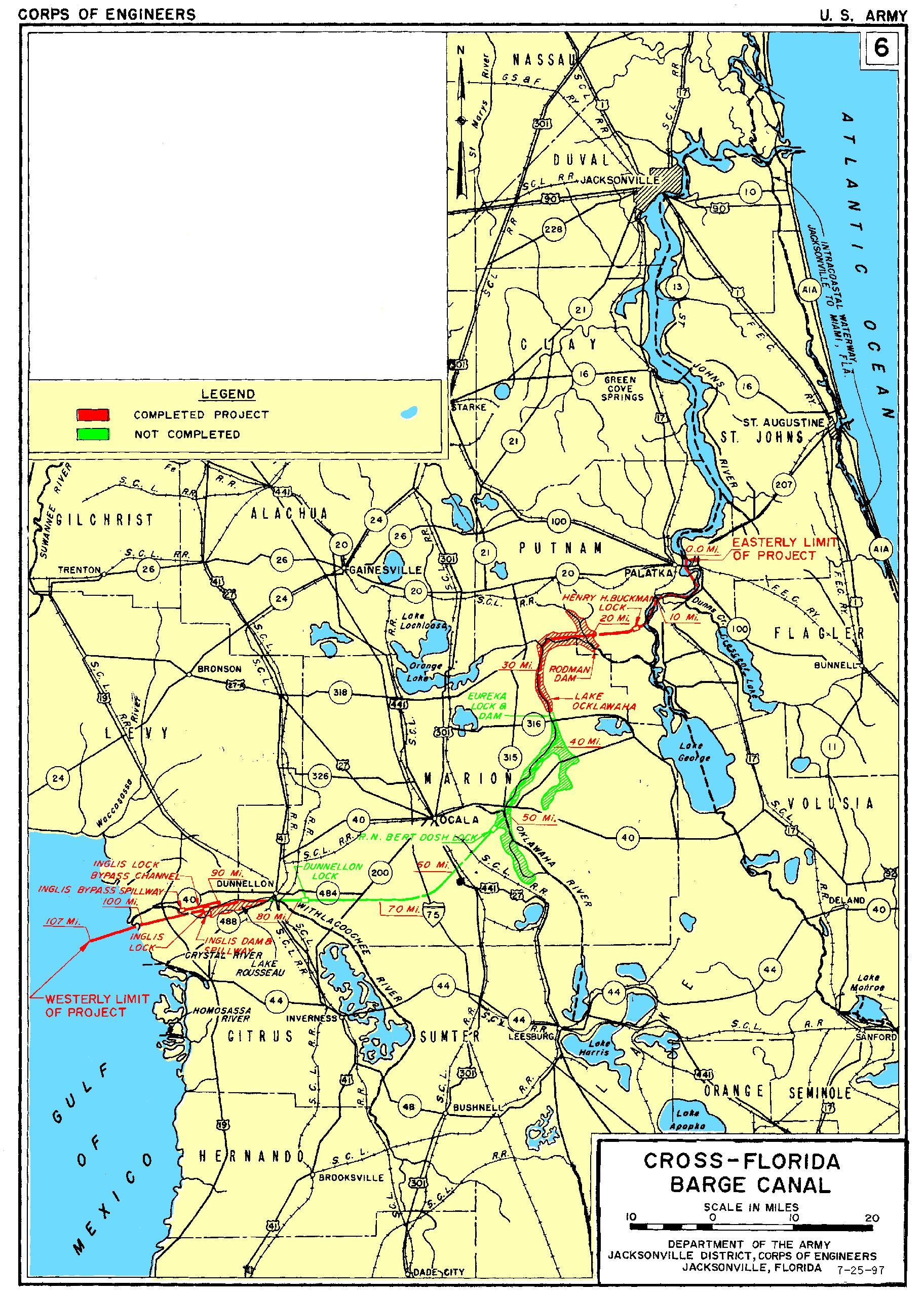 OCALA HISTORY Cross Florida Barge Canal Ocala Buyers Agent - Ocala florida map